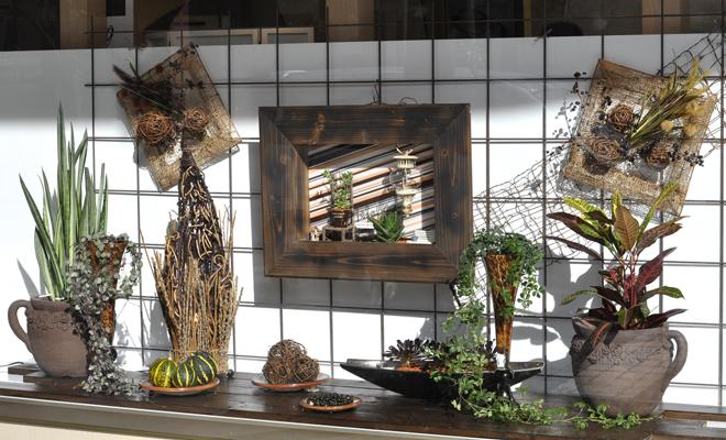 静岡 店舗ディスプレイ 植物リース
